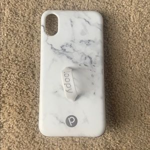 Loopy iPhone XS White Marble Case